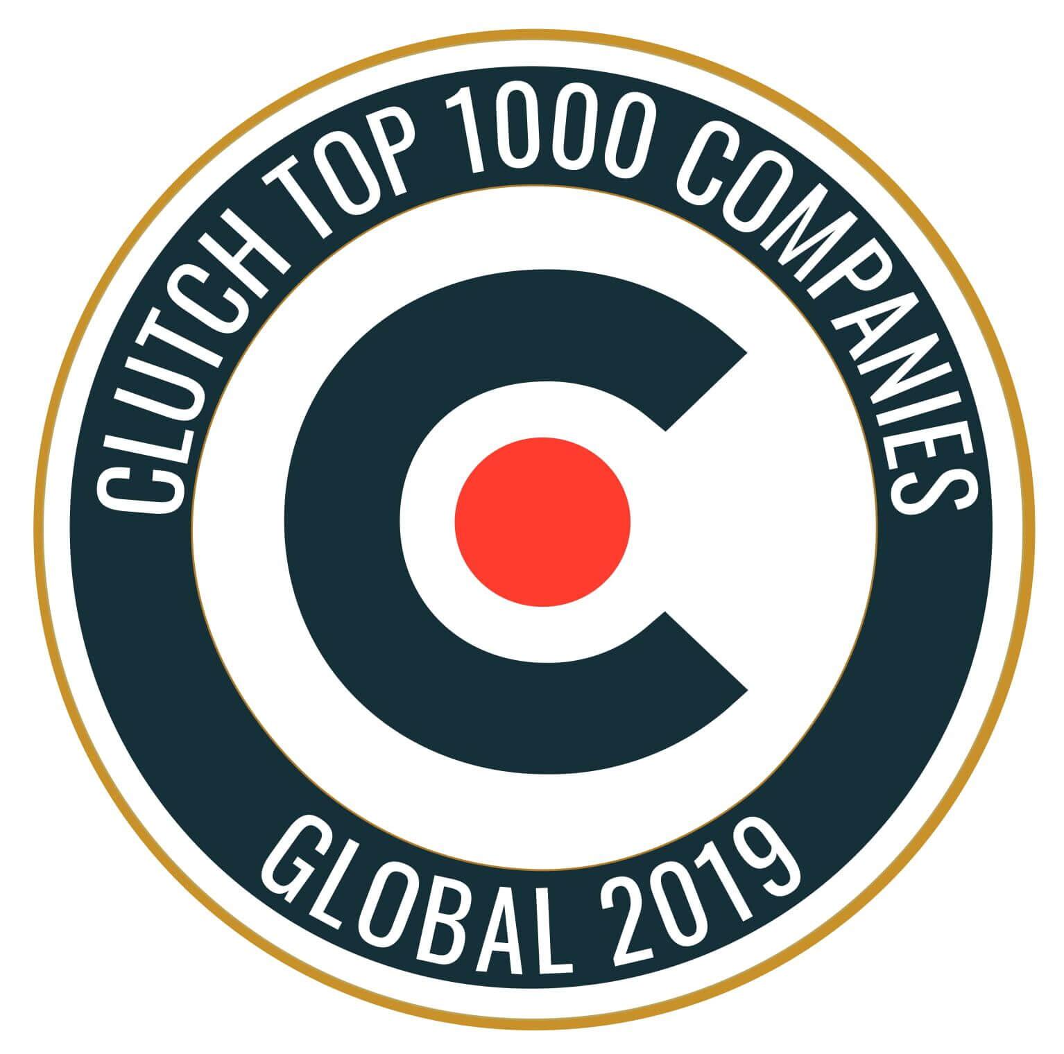 Clutch Global top 1000 companies